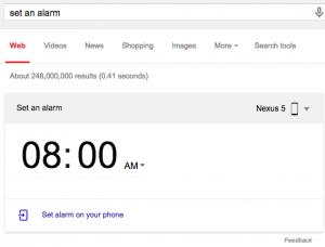 set an alarm