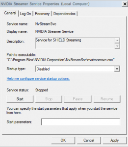 Nvidia Shield settings