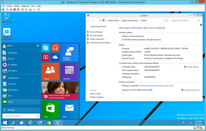 Windows 10, versiunea de testare cu noile funcții disponibilă pentru download